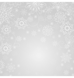 gray abstract background with snowflake vector image vector image