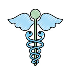 scribble medical symbol vector image vector image