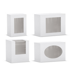 set of realistic empty cardboard boxes vector image