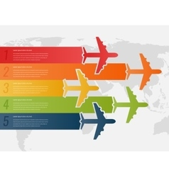 Travel infographic template with colorful vector image