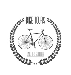 Bicycle tours label Vintage vector image vector image