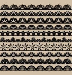 Black Lace Border set vector image