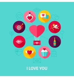 I Love You Concept vector image vector image