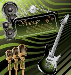 vintage rock music background vector image vector image