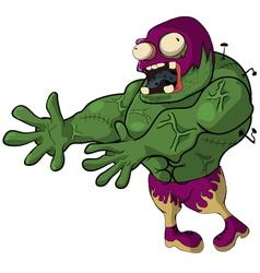 wrestler Zombie jump vector image vector image