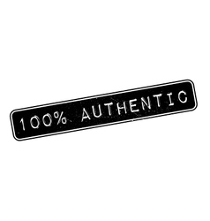 100 percent authentic rubber stamp vector image