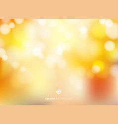 Abstract autumn season blurred bokeh background vector