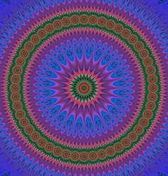 Abstract oriental star mandala fractal art vector image