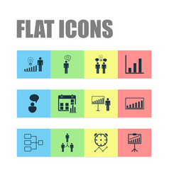 Administration icons set collection of system vector