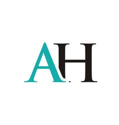 ah initials letter logo vector image