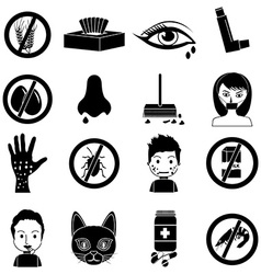 Allergies icons set vector image