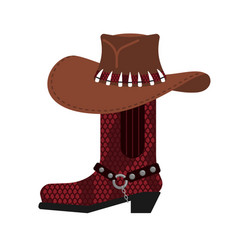australian hat and crocodile skin boots cowboy vector image
