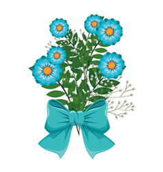 Bouquet of flowers icon vector