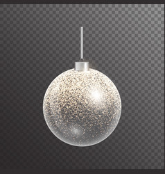 Bright christmas ball vector