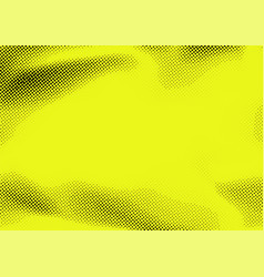 bright yellow and black pop art dotted textured vector image