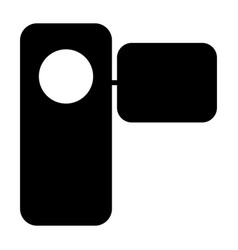 camcorder silhouette icon pictogram vector image