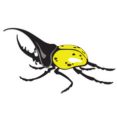 cartoon giant hercules beetle vector image