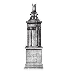 Choragic monument of lysicrates near the vector