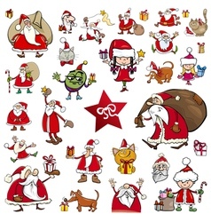 christmas characters cartoons vector image