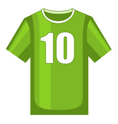 Colorful cartoon soccer uniform t-shirt vector
