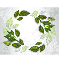 composition patterned tea leaves vector image