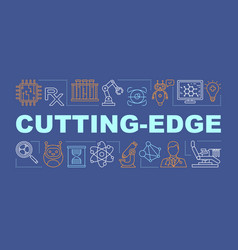 Cutting edge medicine word concepts banner vector