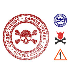 death danger trends seal with distress style vector image