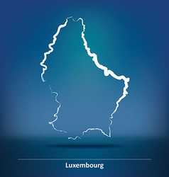 Doodle Map of Luxembourg vector