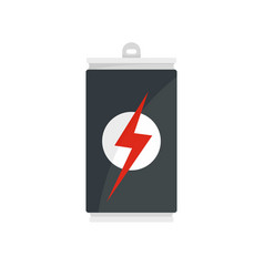energy drink can icon flat style vector image