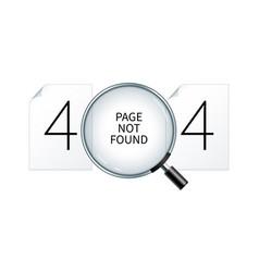 Error 404 webpage banner vector