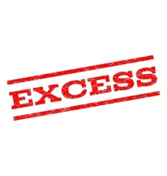 Excess Watermark Stamp vector