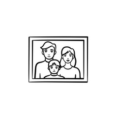family photo frame hand drawn sketch icon vector image
