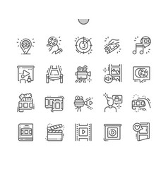film well-crafted pixel perfect icons vector image