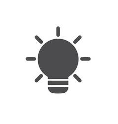 flat icon bulb for web business finance and vector image