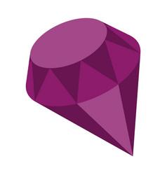 Flat icon on stylish background diamond expensive vector