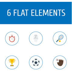 Flat icons uniform trophy ball and other vector