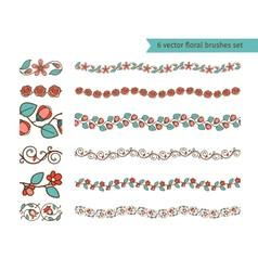 floral pattern brushes vector image