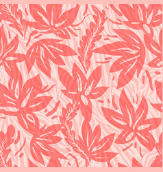 floral seamless stripes pattern vector image