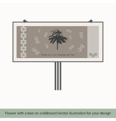 Flower with bee on a billboard 10 vector