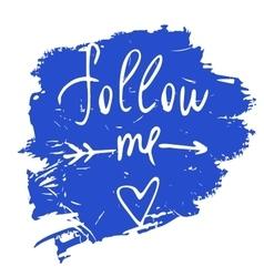 Follow me Social net vector