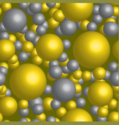 Golden and silver balls seamless pattern vector