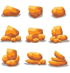 golden rock set vector image