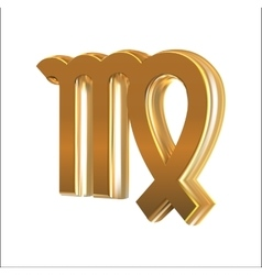 Golden sign Virgo vector image