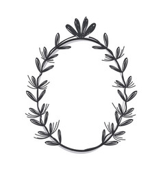 gray flowers design rustic icon vector image