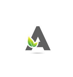 Green grey a alphabet letter logo icon for vector