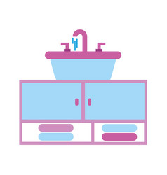 home sink towel for toilet bathroom ceramic vector image