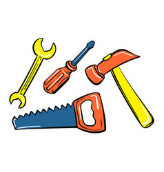 Home toy tool icon cartoon style vector