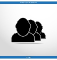 icon of team work vector image