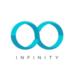 Infinity logo flat colors template vector