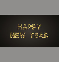 Inscription of happy new year with neon lamps vector
